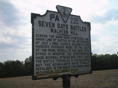 Malvern Hill Marker Photo, Click for full size
