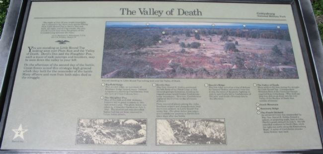 The Valley of Death Marker Photo, Click for full size