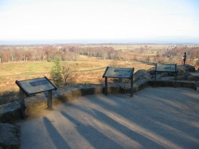 Waysides on Little Round Top Photo, Click for full size