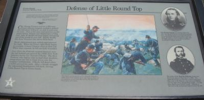 Defense of Little Round Top Marker image. Click for full size.