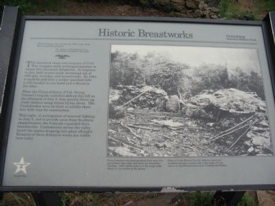 Historic Breastworks Marker image. Click for full size.