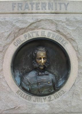 Front of Monument - Col. O'Rorke image. Click for full size.
