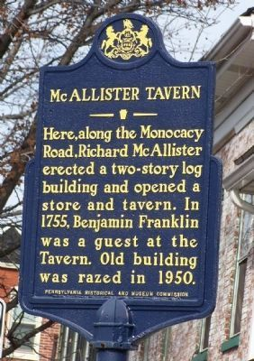 McAllister Tavern Marker Photo, Click for full size