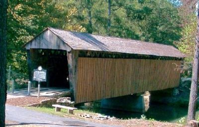Poole's Mill Covered Bridge and Marker image. Click for full size.