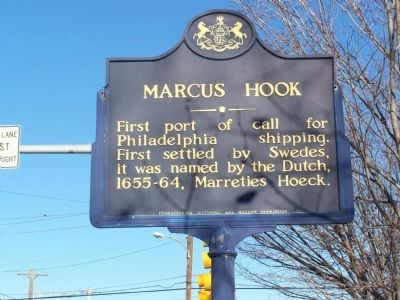 Marcus Hook Marker Photo, Click for full size