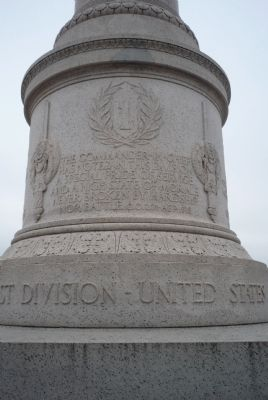 First Division War Memorial - north face image. Click for full size.