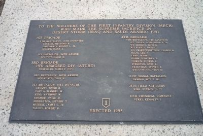 First Division War Memorial - Desert Storm Panel image. Click for full size.