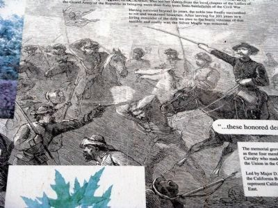Close-up of Artwork on Marker image. Click for full size.
