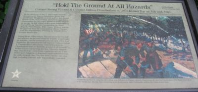 """Hold The Ground At All Hazards"" Marker Photo, Click for full size"