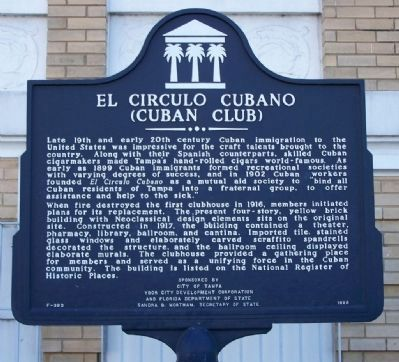 El Circulo Cubano Marker Photo, Click for full size