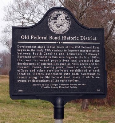 Old Federal Road Historic District Marker image. Click for full size.