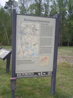 Gaines� Mill Marker Photo, Click for full size