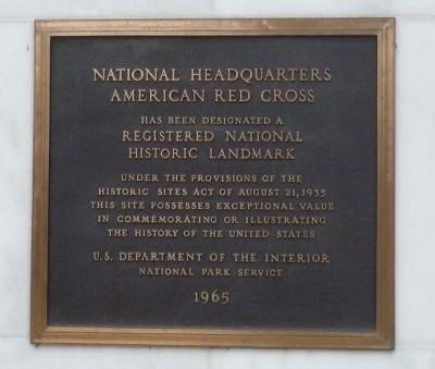 National Headquarters American Red Cross Marker Photo, Click for full size