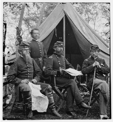 General Sykes and Staff image. Click for more information.