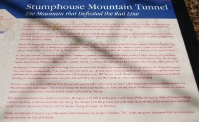 Stumphouse Mountain Tunnel Marker Photo, Click for full size