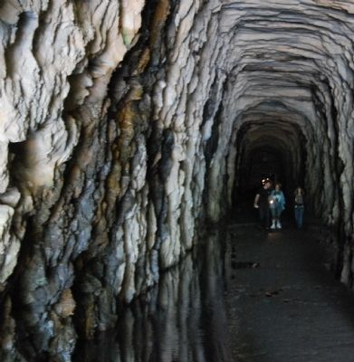 Stumphouse Mountain Tunnel Interior Photo, Click for full size