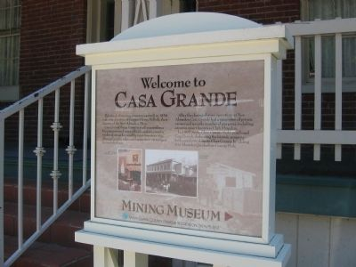 Sign at Entrance to Casa Grande image. Click for full size.