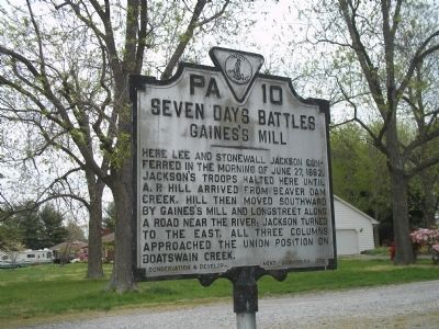Seven Days Battles Marker Photo, Click for full size
