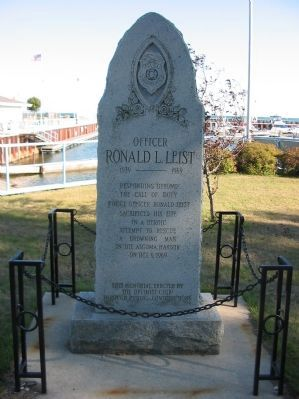 Officer Ronald L. Leist Marker Photo, Click for full size