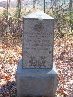 5th New Hampshire Infantry Left Flank Marker image. Click for full size.