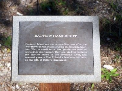 Battery Hambright Marker Photo, Click for full size