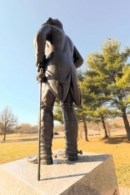 Rear view of General von Steuben statue image. Click for full size.