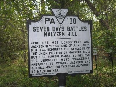Seven Days Battles Marker image. Click for full size.