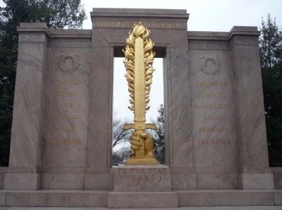 Second Infantry Division Memorial - center section from 1936 Photo, Click for full size