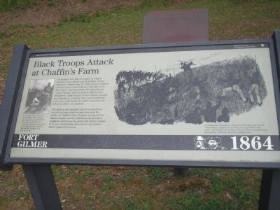 Black Troops Attack at Chaffin�s Farm Marker image. Click for full size.