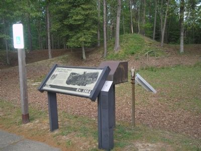 Marker at Fort Gilmer image. Click for full size.