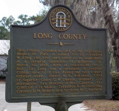 Long County Marker image. Click for full size.