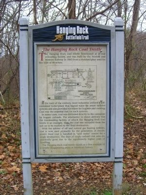 The Hanging Rock Coal Trestle Marker image. Click for full size.