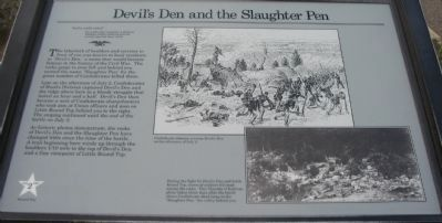 Devil's Den and the Slaughter Pen Marker Photo, Click for full size
