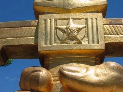 "Close Up of the ""Indian Head"" Symbol on the Sword Photo, Click for full size"