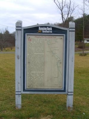 Hanging Rock Battlefield Trail Marker Photo, Click for full size