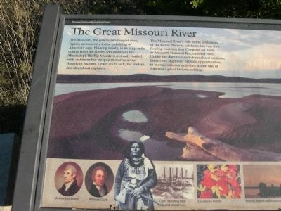 The Great Missouri River Marker Photo, Click for full size