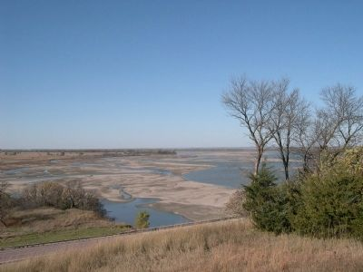Missouri River as seen from near marker. Photo, Click for full size