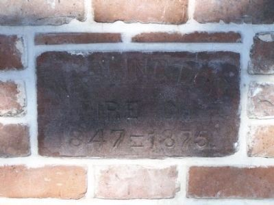 Washington Fire Company Cornerstone, as mentioned image. Click for full size.