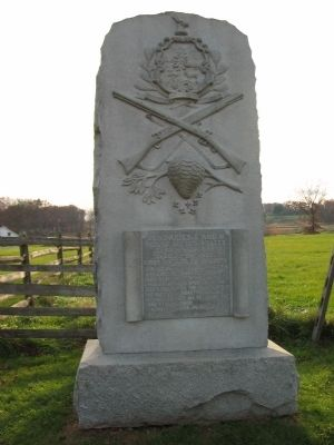 Companies E and H, Second U.S. Sharpshooters Monument Photo, Click for full size