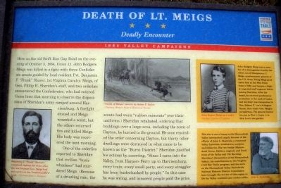 Death of Lt. Meigs marker Photo, Click for full size
