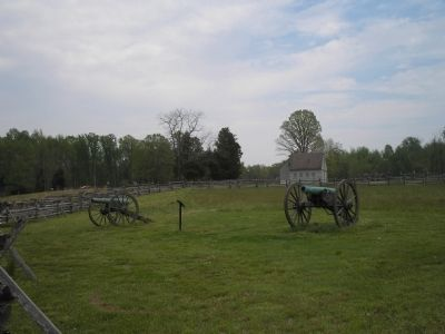 Marker on the Gaines' Mill Battlefield image. Click for full size.