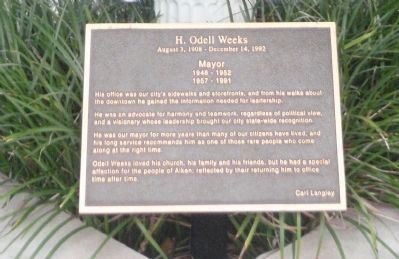 H. Odell Weeks Marker image. Click for full size.