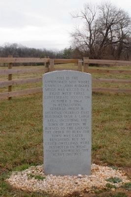 Site Where Lt. John Rodgers Meigs Was Killed Marker image. Click for full size.