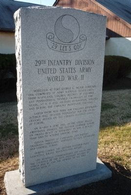 29th Infantry Division, United States Army Memorial - Front image. Click for full size.