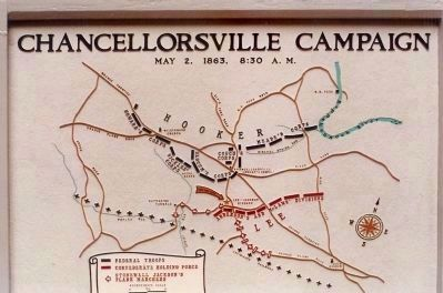 Chancellorsville Campaign Map image. Click for full size.