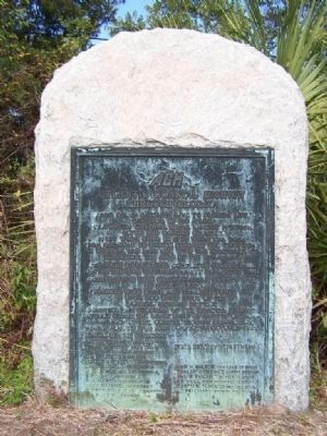 Atlantic Coastal Highway Through Georgia Marker </b>full stone view image. Click for full size.