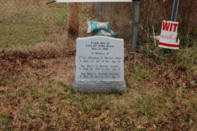 Crash Site of USA AF A20G Havoc Marker Photo, Click for full size
