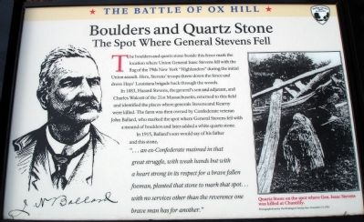Boulders and Quartz Stone Marker image. Click for full size.