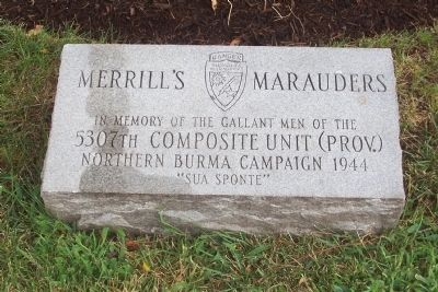 Merrill's Marauders Marker image. Click for full size.