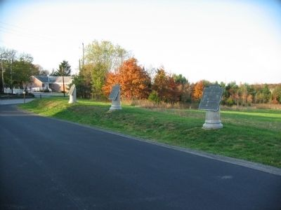 Confederate Cavalry Tablets on Reynolds Avenue Photo, Click for full size